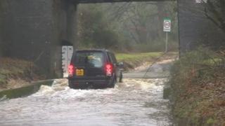 Floods in Brockenhurst