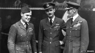 Douglas Bader with Air Chief Marshal Sir Keith Park in 1947