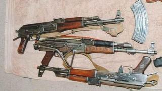 Some of the weapons found at Carvell's home