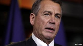 US Speaker of the House John Boehner 20 December 2012