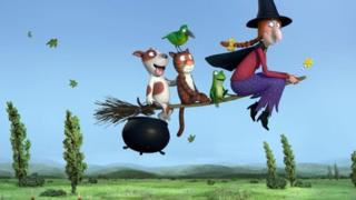 Room on the Broom is the Julia Donaldson story which will premiere on Christmas Day