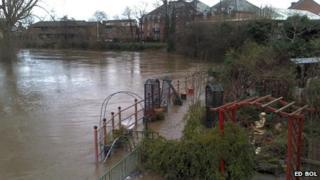 River Severn off Smithfield Road