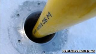 Drilling at lake BAS