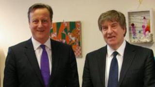 David Carter (r) meeting PM David Cameron