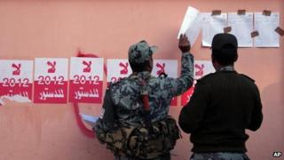 Poll security in Fayoum, 22 December