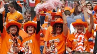 Blackpool fans at 2012 Championship Play Off