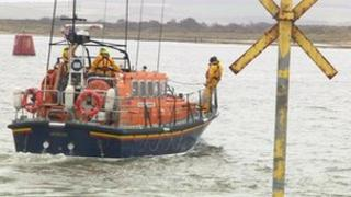 Lifeboat search in Poole Harbour