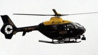 Strathclyde Police helicopter