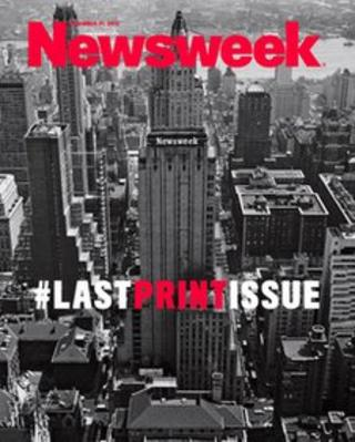 The final print edition of Newsweek magazine