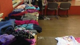 Clothing at women's centre