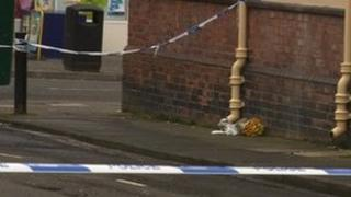 Scene of Wallsend stabbing