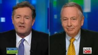 Piers Morgan interviews Larry Pratt on his CNN talk show