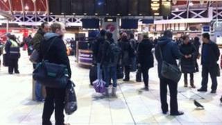 Passengers at Paddington station