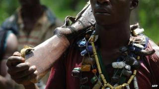 A rebel pictured in the north-west of the Central African Republic in July 2007