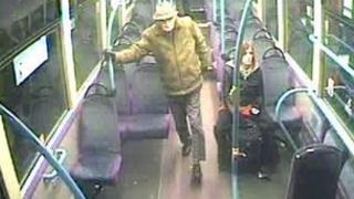 Bus CCTV of Bernard Hallas