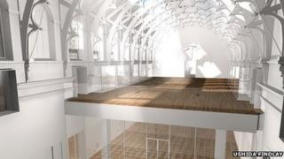 Artists impression of new gallery in the roof space. Picture courtesy of Ushida Findlay