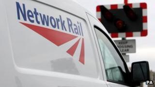 Network Rail van at crossing