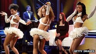 Dancing girls on Mediaset TV show - file pic