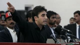 Bilawal Bhutto Zardari makes a speech