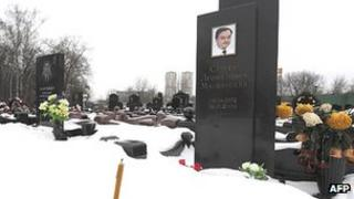 Sergei Magnitsky grave in Moscow, 7 Dec 12