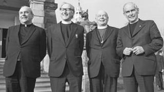Cardinal Tomas O Fiaich, Rev Ernest Gallagher, Dr John Armstrong and Dr John Girvan