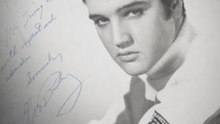 Elvis Presley signed picture