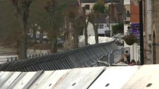 Ironbridge flood defences
