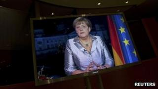 Angela Merkel delivers her new year message in a TV message. 30 Dec 2012