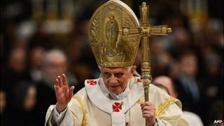 Pope Benedict XVI on January 1, 2013 at the Vatican