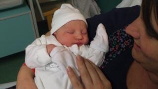 New Year's Day baby Evie Davison