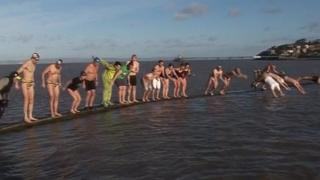 Swimmers in Clevedon