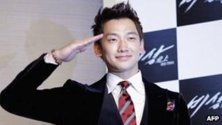 File photo: South Korean pop star Rain, October 2011