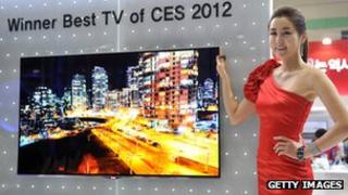 LG OLED TV at CES 2012