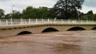 River Teme in Tenbury Wells in summer of 2012