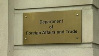 Sign outside Irish Department of Foreign Affairs