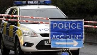 police accident scene