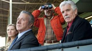 From left: Joan Allen, Dustin Hoffman, John Ortiz and Dennis Farina in Luck
