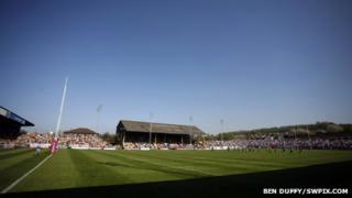 The main stand at Castleford Tigers
