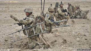 QRH soldiers in Lashkar Gah, Helmand