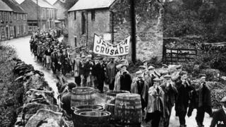 The Jarrow marchers in Lavendon