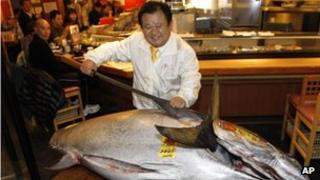 Kiyoshi Kimura at his sushi chain, 5 January