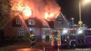 The fire at the Bell Inn in Yeovil