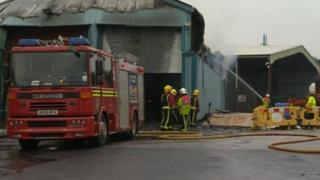 Firefighters tackle blaze at West Bromwich industrial unit