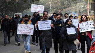 Protest in Delhi. 6 Jan 2013