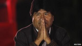 Evo Morales in Venezuela, 16 Dec 2012