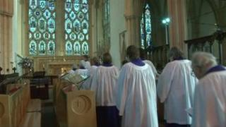 The service at Dorchester Abbey