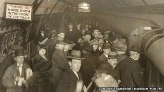 Passengers at Piccadilly Circus