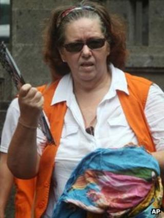 Lindsay Sandiford arrives at court on 7 January