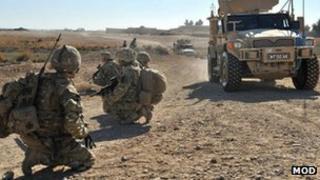 British Army on patrol in Afghanistan