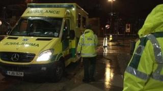 Yorkshire Ambulance Service staff on site